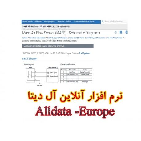 نرم افزار آنلاین آل دیتا Alldata - خودروهای تحت پوشش قاره اروپا3,750,000.00 3,750,000.00